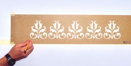 Stencil fratelli gregorio manerbio brescia italy for Stencil per pareti